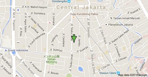 ジャカルタの地図001