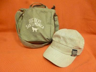 ワンコ帽子とお散歩バッグ