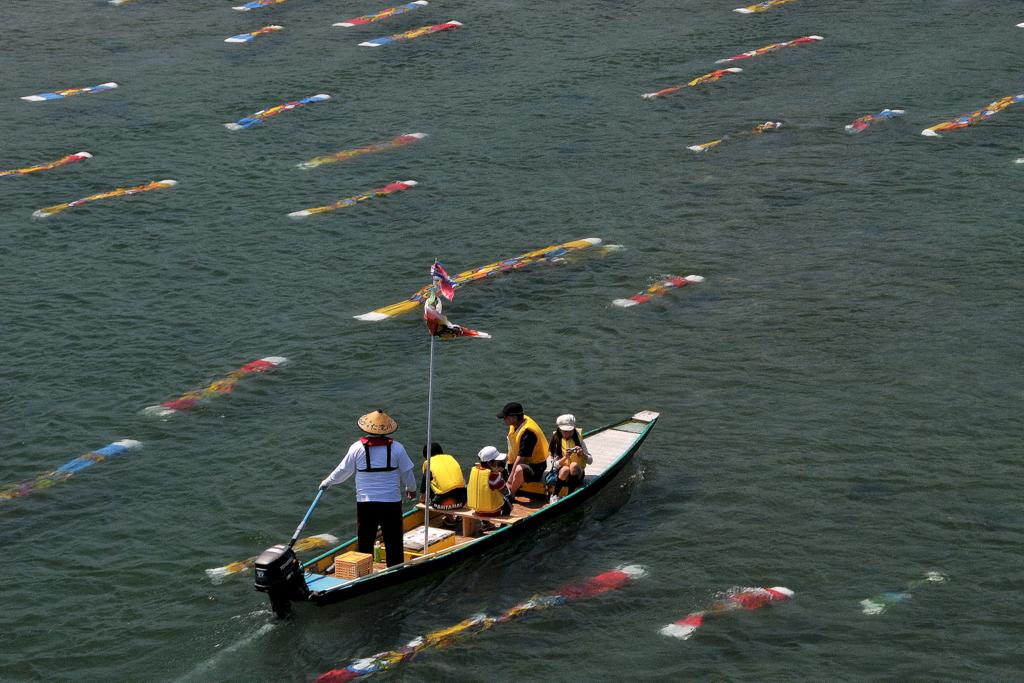 仁淀川に泳ぐ鯉のぼり