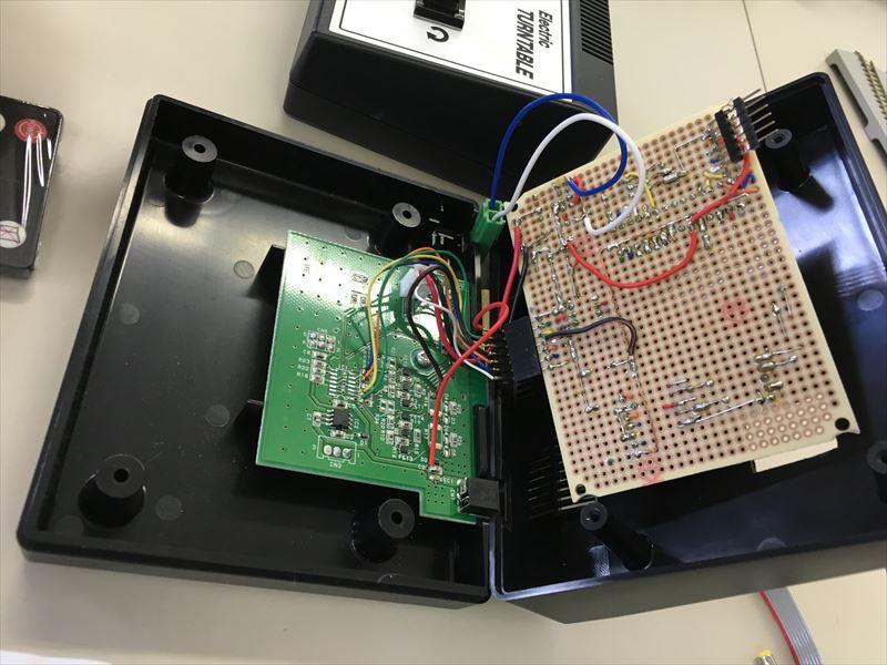 ターンテーブルワイヤレスコントローラ内部