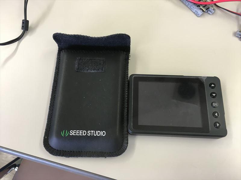 DIYポイントスイッチに使用した携帯オシロ