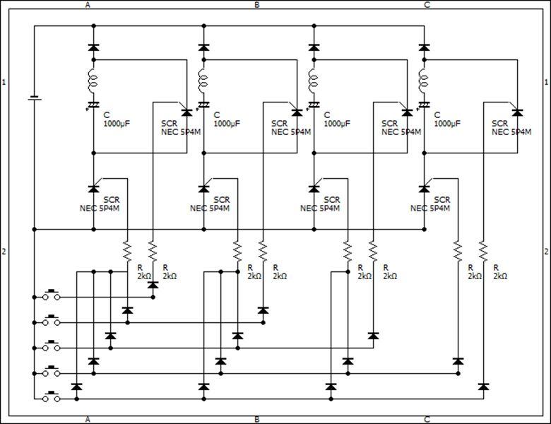 ポイントスイッチ現状回路図