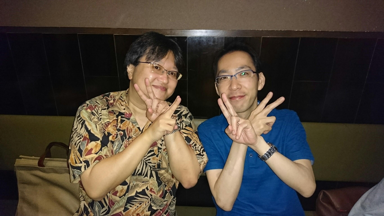 八木澤先生と団長