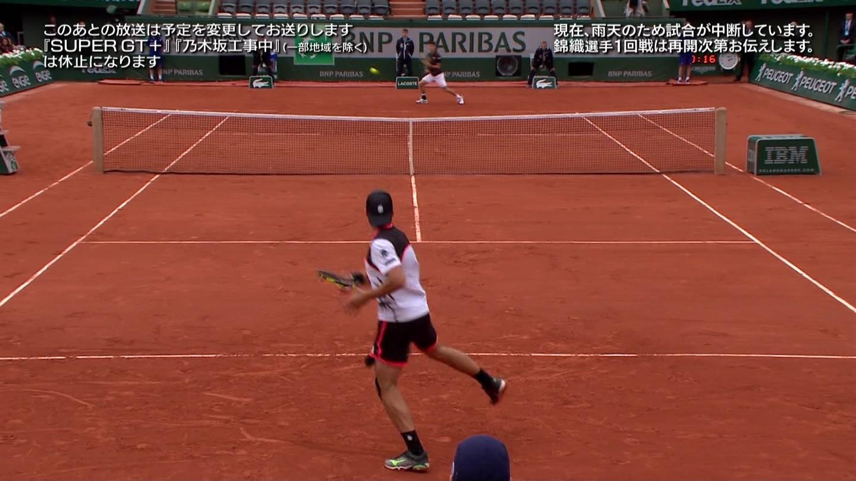 全仏テニス延長のため乃木坂工事中放送休止4