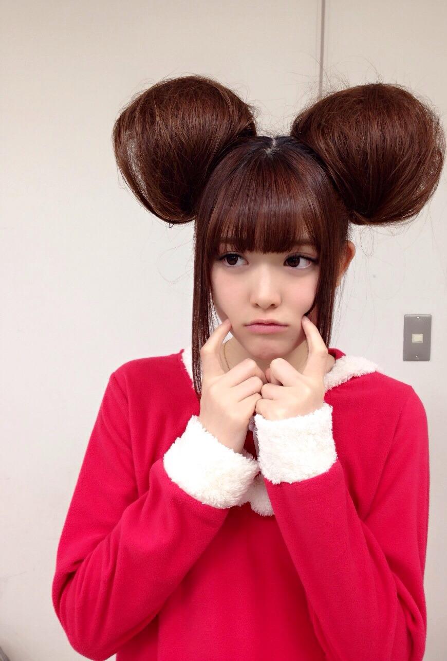 すごい髪型の松村沙友理の画像