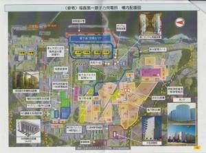 福島第一原発構内配置図