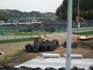 富岡町 6号線 帰還困難区域 除染廃棄物置き場 3