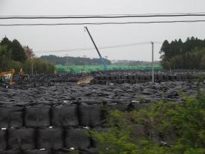 富岡町 6号線 帰還困難区域 除染廃棄物置き場 1