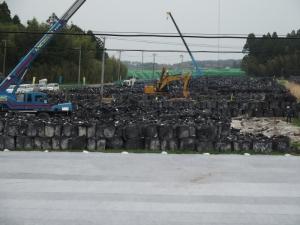 富岡町 6号線 帰還困難区域 除染廃棄物置き場 2