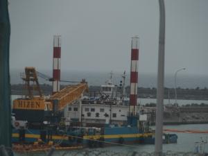 港湾 海中土 被覆船