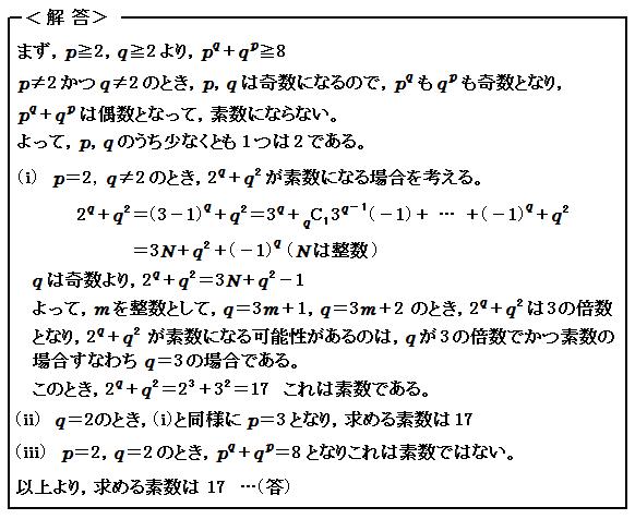 2016 京都大学 第2問 整数問題 解答
