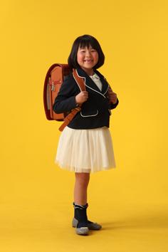 入学写真群馬伊勢崎はのちゃん小学校入学ランドセル