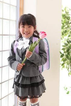 入学写真群馬伊勢崎そらちゃん小学校入学