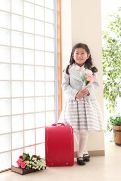 入学写真群馬伊勢崎なつみちゃん小学校入学
