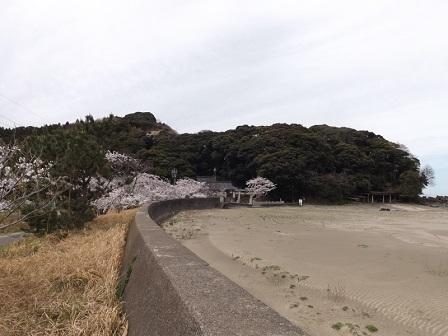 004岡崎山砦跡(海側から)
