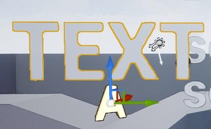 UE4 3D空間上にテキスト文字列を表示する(Text Render Actor