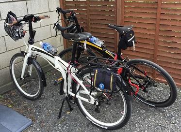 自転車は置いて~。