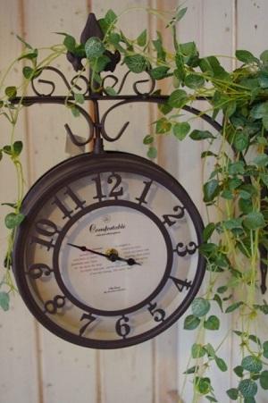 アイアン両面時計