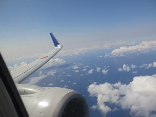 石垣島上空