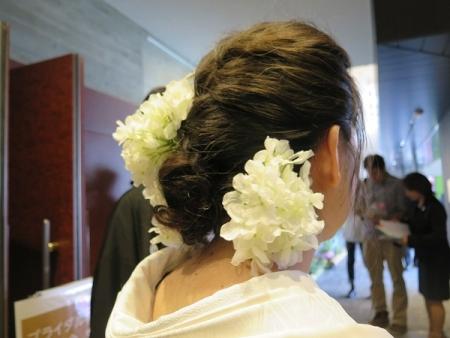 結婚式 花嫁の髪飾り