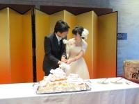 道の駅婚 ウェディングケーキ入刀