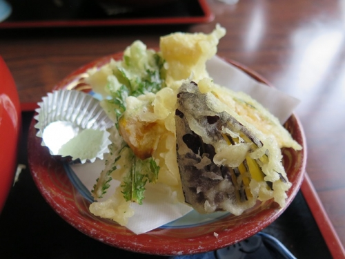 ゆばと野菜の天ぷら