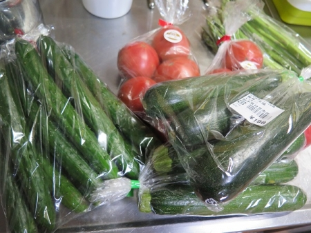 道の駅『日光』で買った野菜