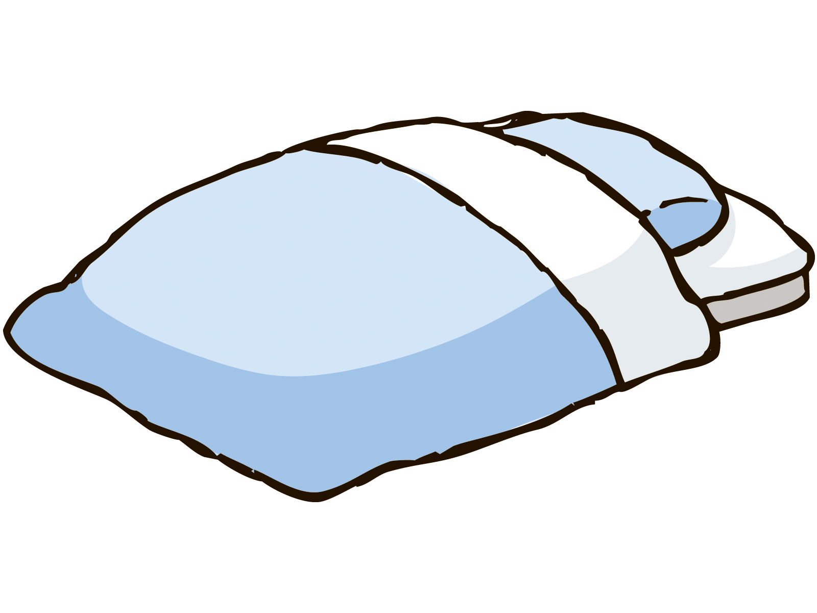 布団と枕のイラスト