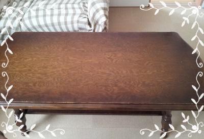 片付け後のサイドテーブル
