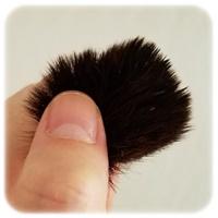 乾いたメイクブラシの毛の中