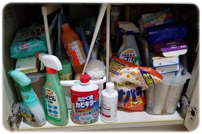 洗面台下両開き断捨離前