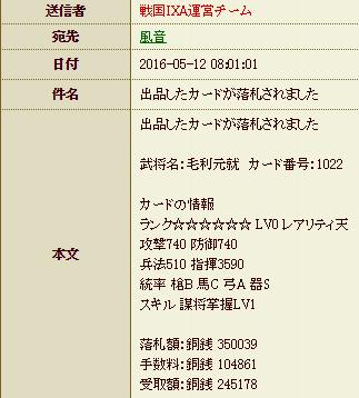 28 5月17日 毛利売却