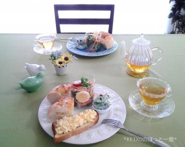 美味しい紅茶とグラスサラダのせワンプレート3