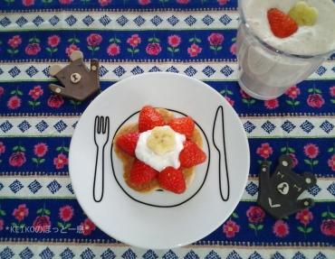 お花のミニパンケーキ2