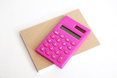 ピンク電卓