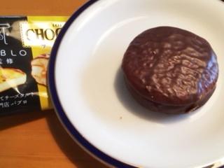 チョコパイチーズケーキ中