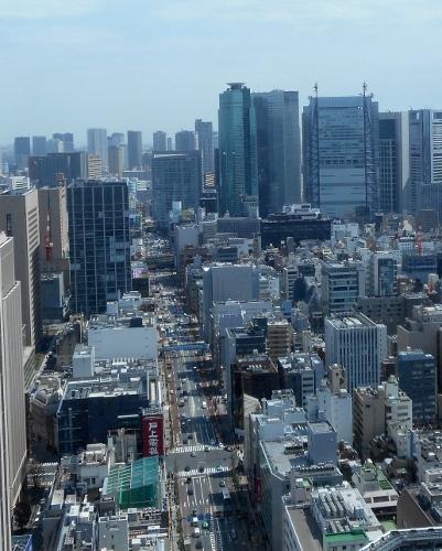 霞が関ビルからの眺望 2016② 外堀通り
