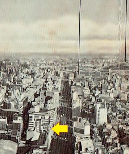 霞が関ビルからの眺望 1968② 外堀通り