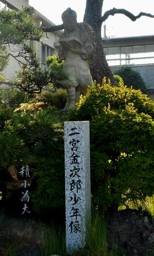 黒田小学校 二宮像