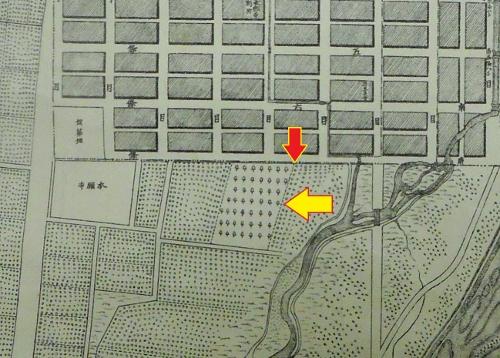 明治22年札幌市街之圖 南7条西4丁目