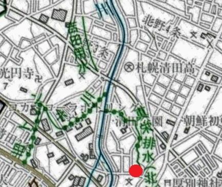 河川網図 真栄排水