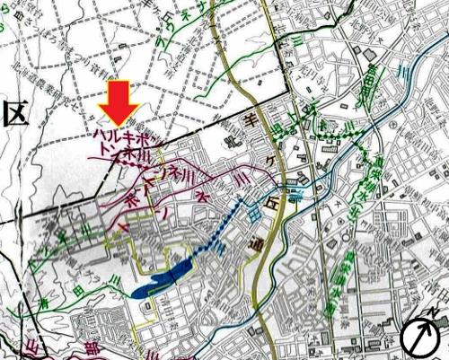 河川網図 ハルキポントンネ川
