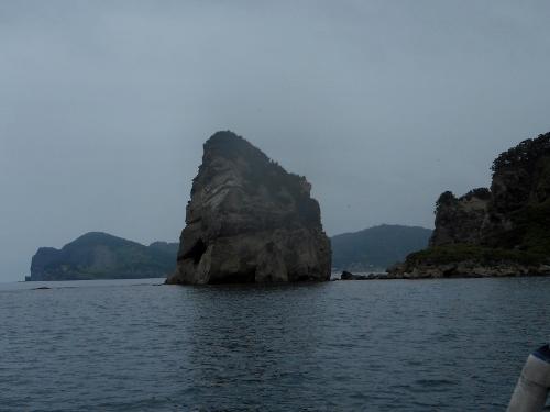 小樽 桃岩 海上からの眺め①