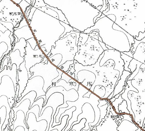 明治29年地形図 室蘭街道