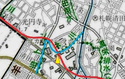 河川網図 旧トンネ川②