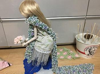 20160602 球体関節人形 ロングマフラー