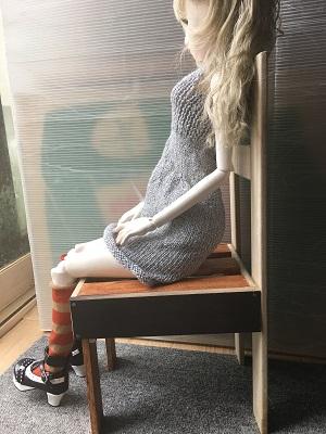 20160609 ダイソー ラメリリアン 手編みドレス