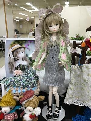 20160714 ダイソー毛糸 ドールのドレス