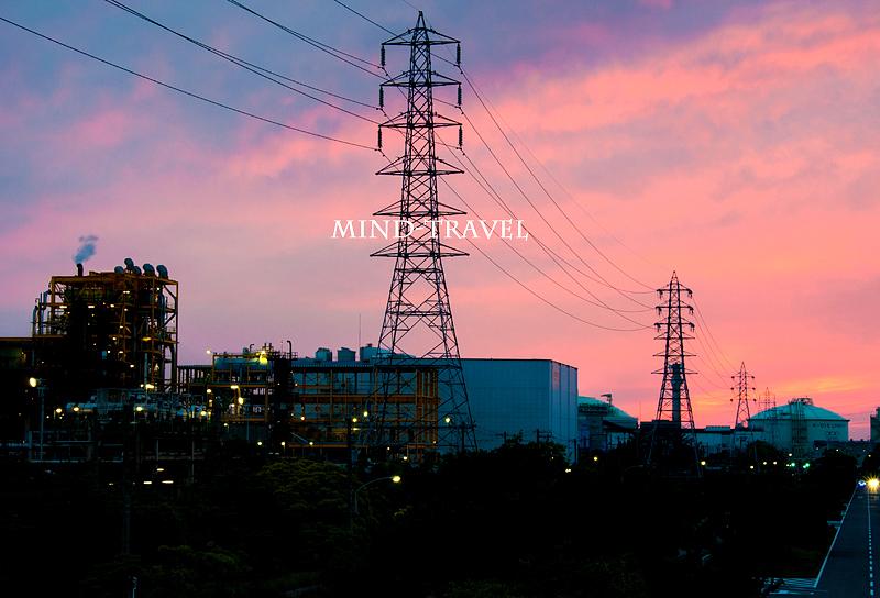 堺泉北工業地帯 夕景