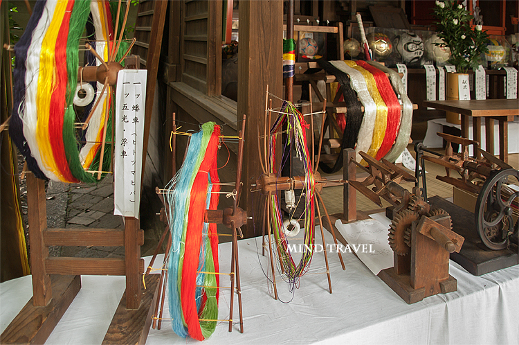 白峯神宮 織物の道具